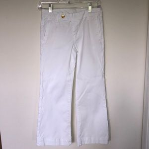 7 for All Mankind White Cropped Jeans Sz 25